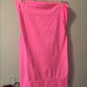 Tube top dress